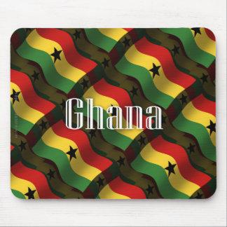 Ghana Waving Flag Mouse Pad