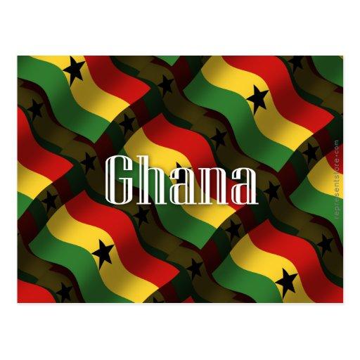 Ghana Waving Flag Postcards