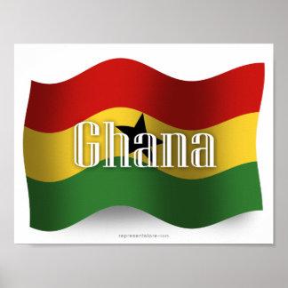 Ghana Waving Flag Poster
