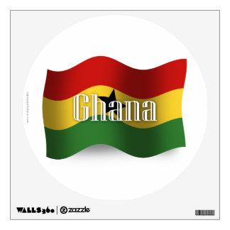 Ghana Waving Flag Wall Decal