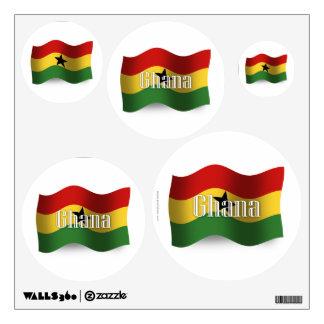 Ghana Waving Flag Wall Sticker
