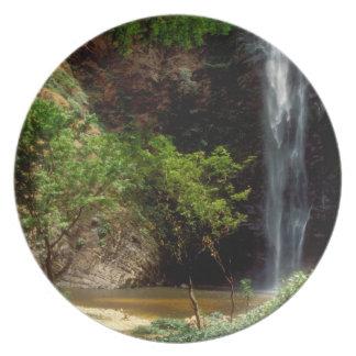 Ghana: Wli Falls, a.k.a. Agumatsa Falls (Volta Melamine Plate