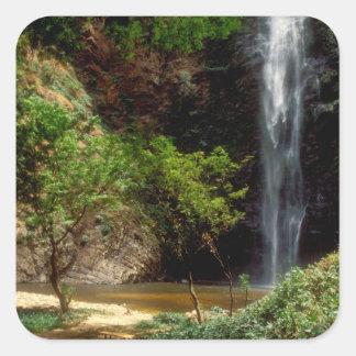 Ghana: Wli Falls, a.k.a. Agumatsa Falls (Volta Square Sticker