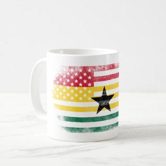 Ghanaian American Flag   Ghana and USA Design Coffee Mug