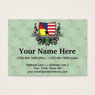 Ghanaian-American Shield Flag Business Card