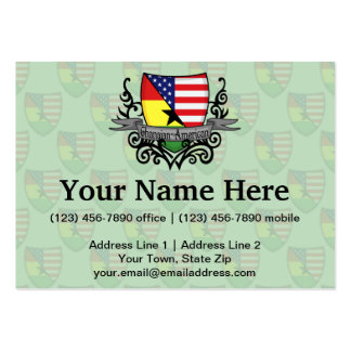 Ghanaian-American Shield Flag Business Card Template