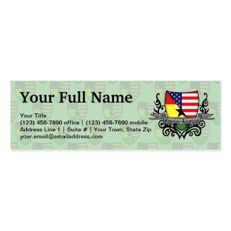 Ghanaian-American Shield Flag Business Card Templates
