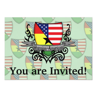 Ghanaian-American Shield Flag Card