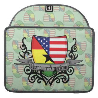 Ghanaian-American Shield Flag Sleeve For MacBook Pro