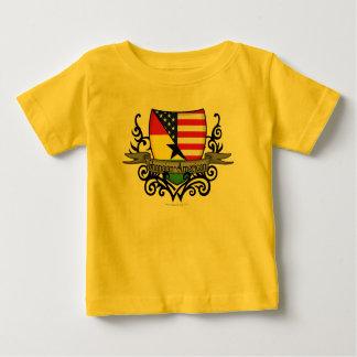 Ghanaian-American Shield Flag Tee Shirts