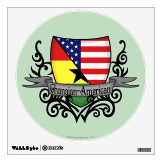 Ghanaian-American Shield Flag Wall Decal