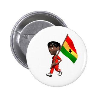 Ghanaian Boy Pinback Button