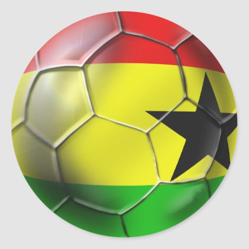 Ghanaian flag of Ghana Soccer ball for fans Classic Round Sticker