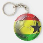 Ghanaian flag of Ghana Soccer ball for fans Key Chains