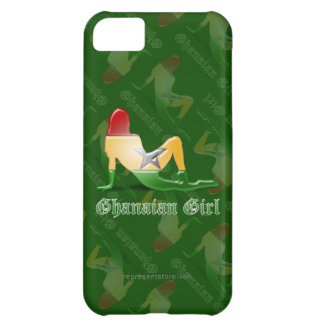 Ghanaian Girl Silhouette Flag Case For iPhone 5C