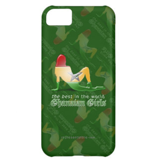 Ghanaian Girl Silhouette Flag Cover For iPhone 5C