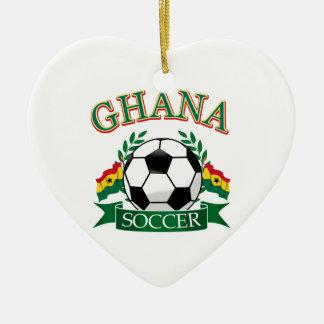 Ghanaian Soccer Designs Ceramic Ornament