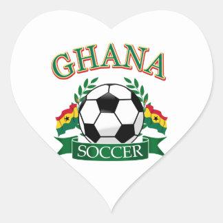 Ghanaian Soccer Designs Heart Sticker