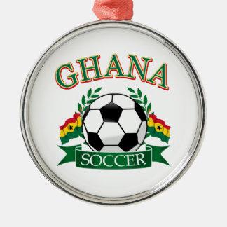 Ghanaian Soccer Designs Metal Ornament