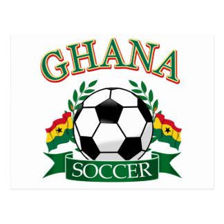 Ghanaian Soccer Designs Postcard