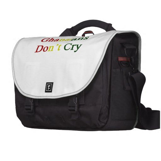 Ghanaians Don't Cry Laptop Computer Bag