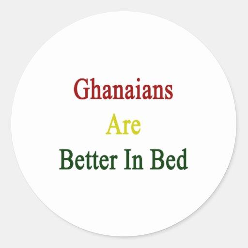 Ghanaians es mejor en cama etiquetas redondas