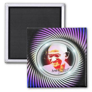 ghandi 2 inch square magnet