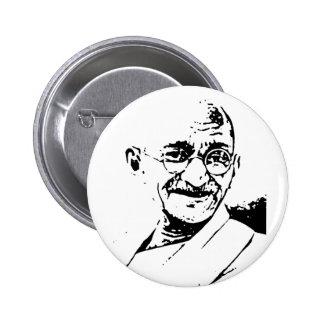 Ghandi 2 Inch Round Button