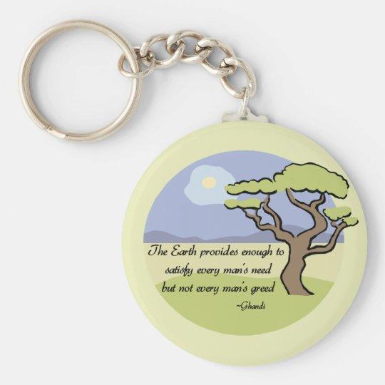 Ghandi Earth quote Keychain