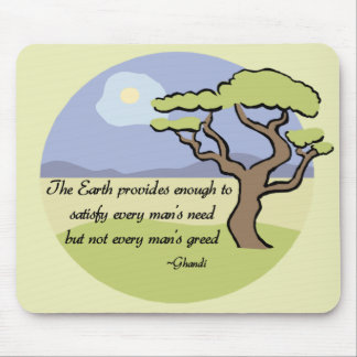 Ghandi Earth quote Mouse Pad