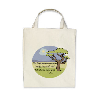 Ghandi Earth Quote Organic Tote Bag