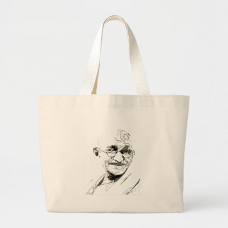 Ghandi inspiration tote bags