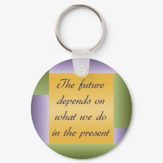Ghandi inspirational quote Keychain keychain