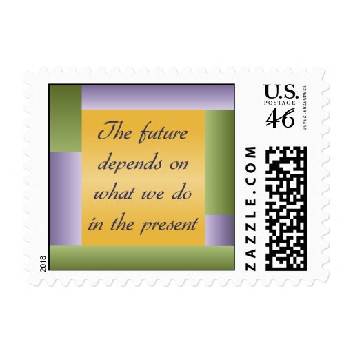 Ghandi inspirational quote Postage Stamps