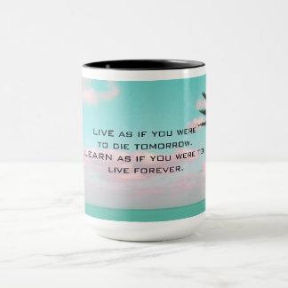 Ghandi Inspirational Quote Tropical Themed Mug