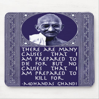 Ghandi on Causes Mouse Pads
