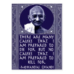 Ghandi on Causes Post Card