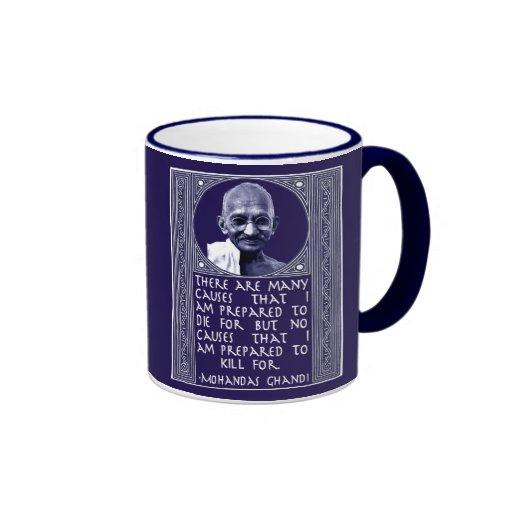 Ghandi on Causes Ringer Mug