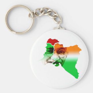 ghandi-on-india-and-pakistan-border keychain