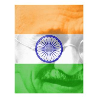 Ghandi on Indian Flag Full Color Flyer