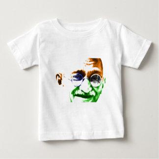 Ghandi on Subtle Indian Flag Tee Shirt