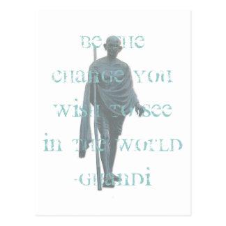 ghandi postcard