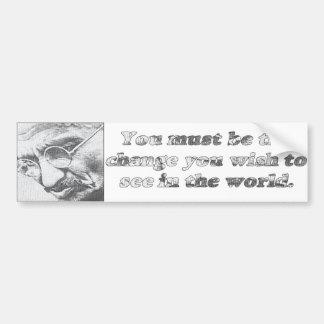 Ghandi quote bumper sticker