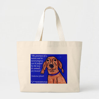 Ghandi Quote on Animal Welfare Bags