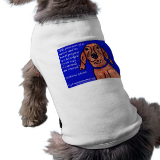 Ghandi Quote on Animal Welfare Tee