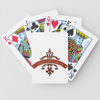 ghandi says relax bicycle playing cards