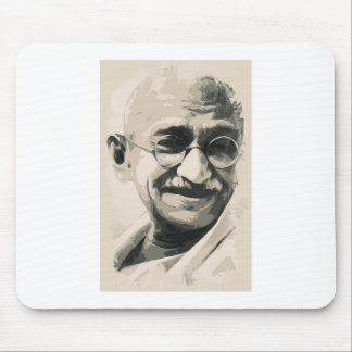 Ghandi smile mousepads