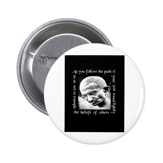 ghandi tread lightly button