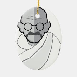 Ghandi Vector Ceramic Ornament