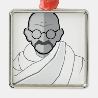 Ghandi Vector Metal Ornament